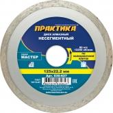 Диск алмазный сплошной Практика Мастер 030-627 125 мм