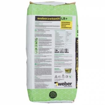 Шпаклёвка полимерная финишная Weber Vetonit LR Plus, 20 кг