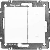 Legrand 770074, Valena Светорегулятор (диммер) клавишный нажимной, 60-600 Вт, белый