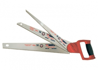 Ножовка по дереву 3 в одном: ножовка, 3 рабочих полотна, металлическая обрезиненная рукоятка. MATRIX