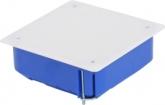 Коробка распаячная для полых стен с металлическими лапками и крышкой 110х110х45 мм.