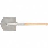 Лопата саперная из нержавеющей стали, деревянный черенок