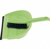 Набор: совок с кромкой 330 х 235 мм, щетка- сметка 290 мм, зеленый. Elfe