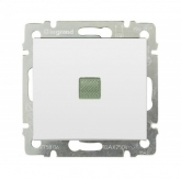 Legrand 774410, Valena Выключатель одноклавишный с подсветкой, белый