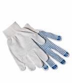 Хлопчатобумажные перчатки 4 нити с ПВХ покрытием