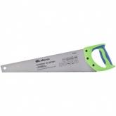 "Ножовка по дереву ""Зубец"", 450 мм, 7-8 TPI, калёный зуб 2D, двухкомпонентная рукоятка. СИБРТЕХ"