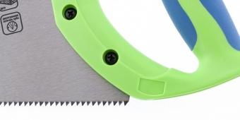 "Ножовка по дереву ""Зубец"", 500 мм, 7-8 TPI, калёный зуб 2D, двухкомпонентная рукоятка. СИБРТЕХ"