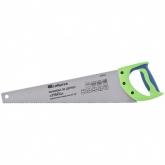 "Ножовка по дереву ""Зубец"", 450 мм, 7-8 TPI, калёный зуб 3D, двухкомпонентная рукоятка. СИБРТЕХ"