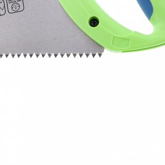 "Ножовка по дереву ""Зубец"", 500 мм, шаг зуба 7 мм, калёный зуб 2D, двухкомпонентная рукоятка. СИБРТЕХ"
