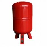 Бак расширительный для отопления 150л КРАСНЫЙ (с ножками)