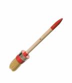 Кисть круглая 35 мм натуральная щетина деревянная ручка