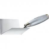 Мастерок из нержавеющей стали, 80 х 60 х 60 мм, для внутренних углов
