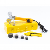 Аппарат для сварки пластиковых труб DWP-750, 750Вт, 0-300 град., 4 насадок, 20 - 40 мм DENZEL (94203)
