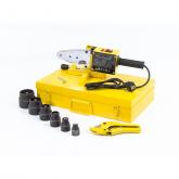 Аппарат для сварки пластиковых труб DWP-1500, 1500Вт, 260-300 градусов комплект насадок,20-63 мм DENZEL (94205)