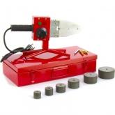 Аппарат для сварки пластиковых труб КW 800, 800 Вт, 300 °C, 20-25-32-40-50-63 мм, металлический кейс KRONWERK (94214)