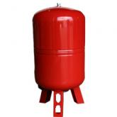 Бак расширительный для отопления 100л КРАСНЫЙ (с ножками)