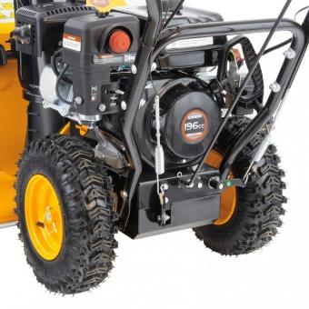 Бензиновая снегоуборочная машина SB 650 E, 6,5 л.с, Loncin, с электростартером, фара Denzel