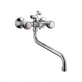 Смеситель для ванны с длинным гусаком (маховики круглые) 7130S FRAP / Фрап