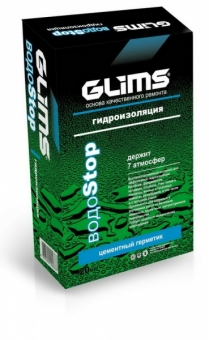Высокоэффективная гидроизоляция Glims водостоп 20 кг