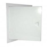 Люк ревизионный металлический крашеный белый с магнитом ШхВ 25х75 см.