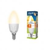 Светодиодная лампа серии Simple LED-C37-6W/WW/E14/FR/S