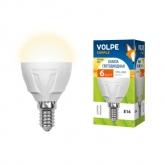 Светодиодная лампа серии Simple LED-G45-6W/WW/E14/FR/S