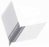 Уголок штукатурный ПВХ с сеткой L=3м